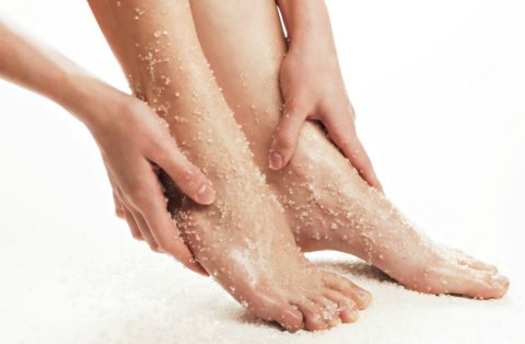 What it's like to use an exfoliating scrub on your feet - it's just like using an exfoliator on your face!