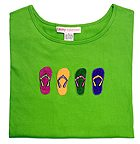 2/4-sleeved colorful flip flop tshirts.
