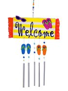 Flipflop welcome mat door chime.