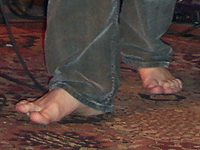Singer Pat Green's naked toes!