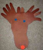 Kids Crafts: How To Make Holiday Art Using A Child's Feet & Hands