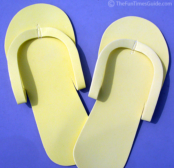 15ae3831735 A pair of disposable flip flops - the ones they give you when you get a